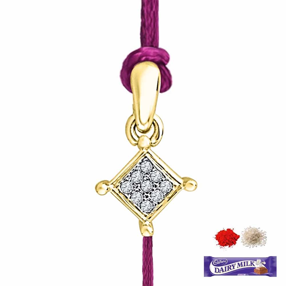 Royal Rakhi Collection-AHANA DIAMOND RAKHI CUM PENDANT