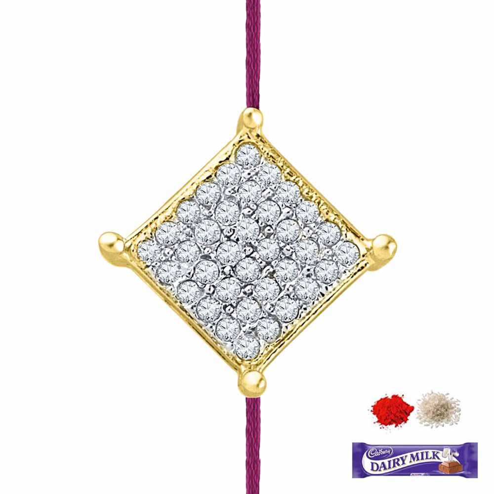 Royal Rakhi Collection-SIZZLING DIAMOND RAKHI CUM PENDANT