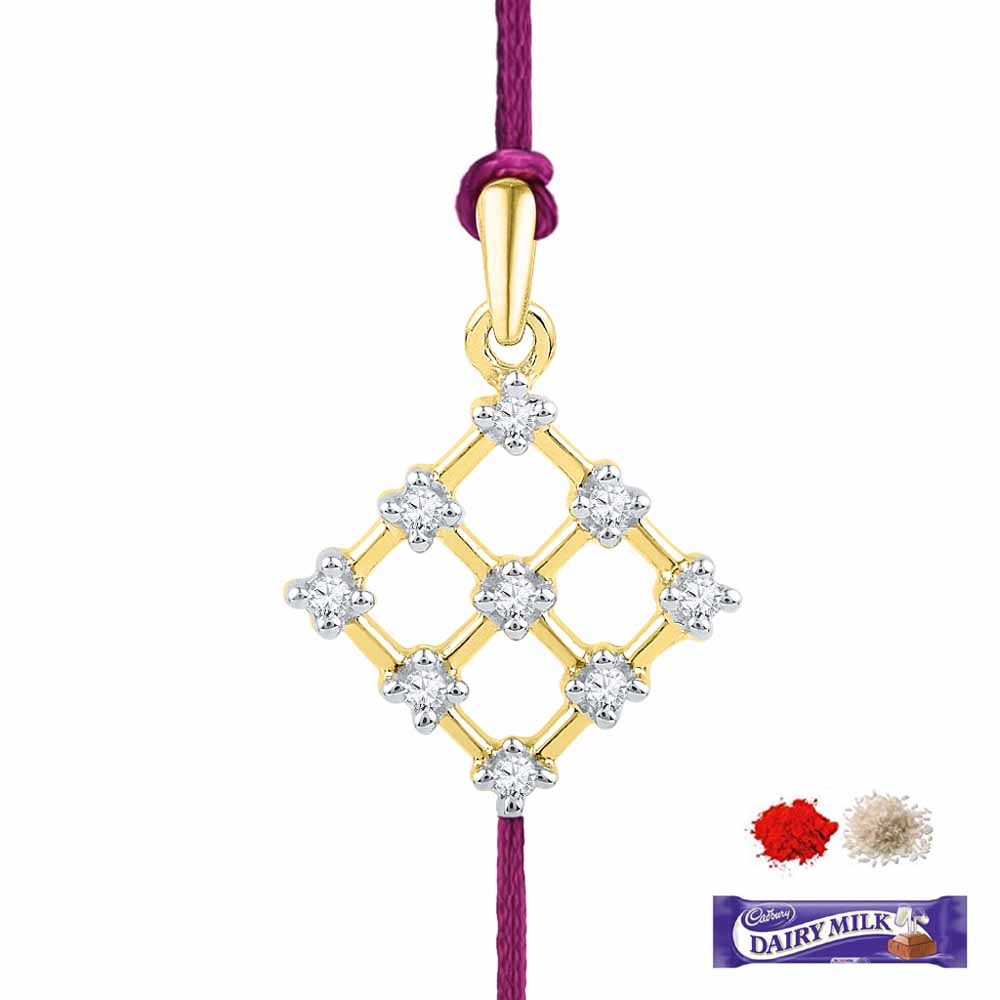 Royal Rakhi Collection-DIAMOND RAKHI CUM PENDANT