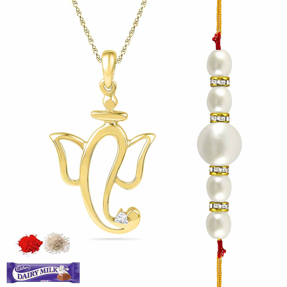 GANESH DIAMOND RAKHI HAMPER