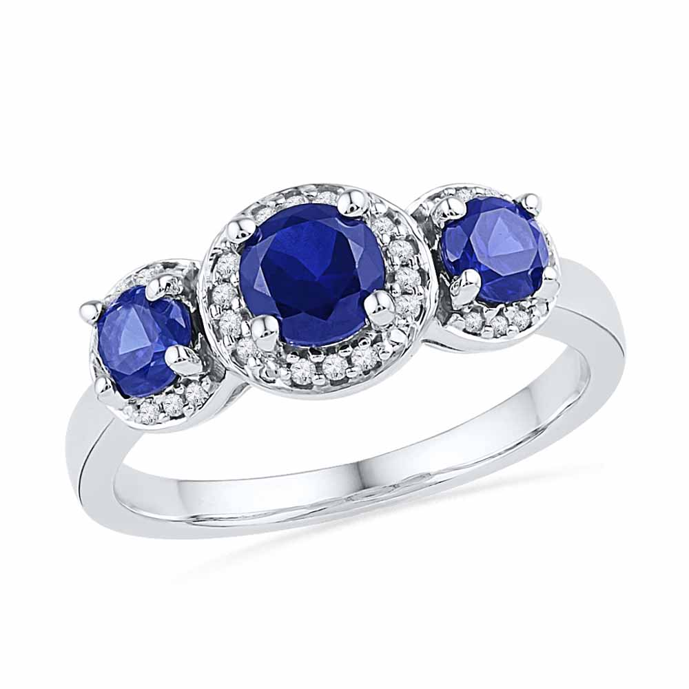 Precious-BLUE SAPPHIRE DIAMOND RING