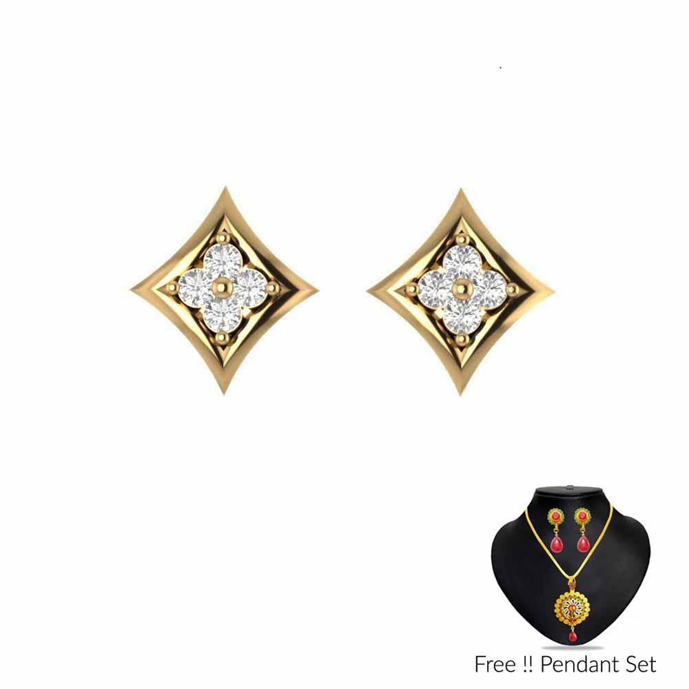 Precious-SIMPLE DIAMOND EARRINGS