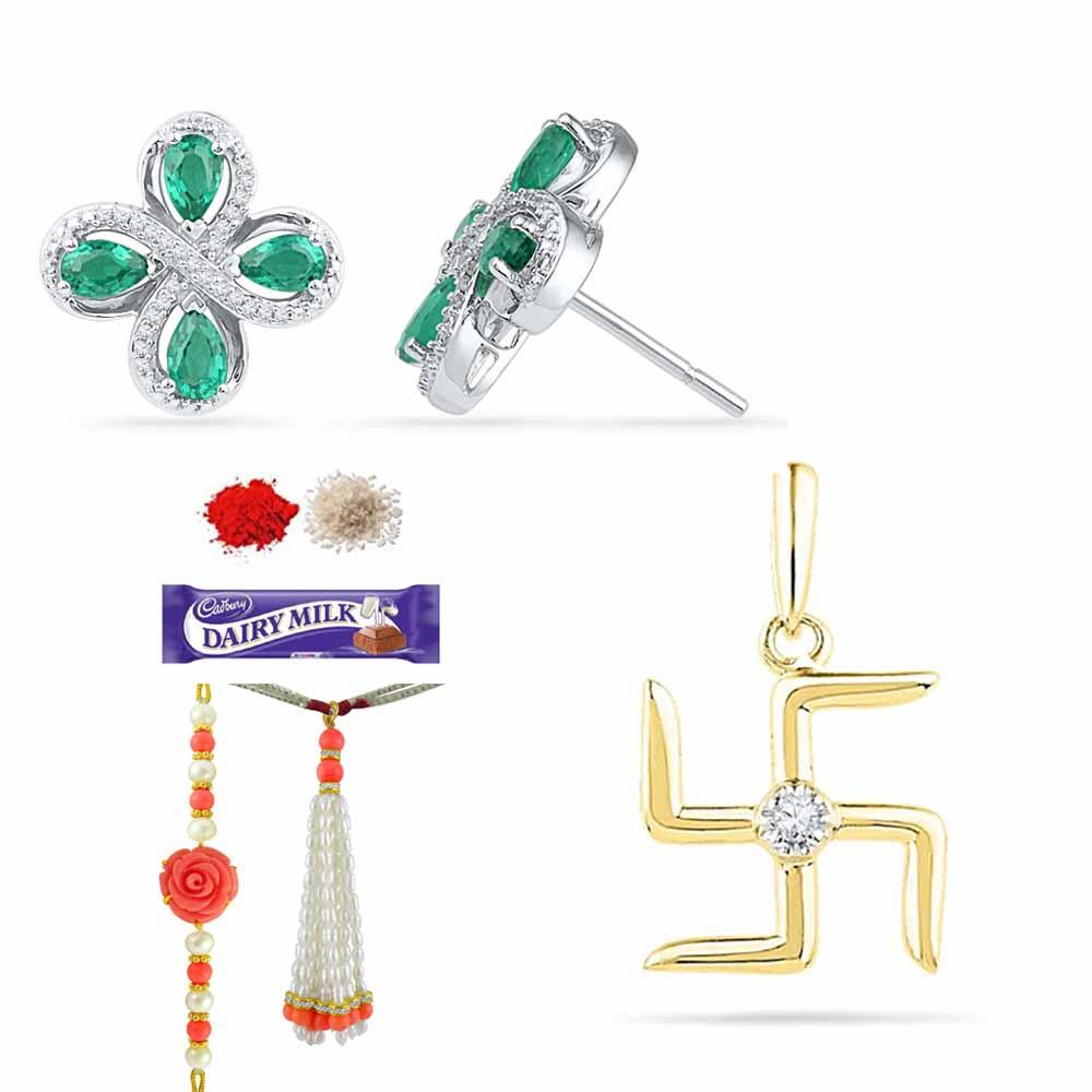 LOVELY DIAMOND RAKHI GIFT HAMPER