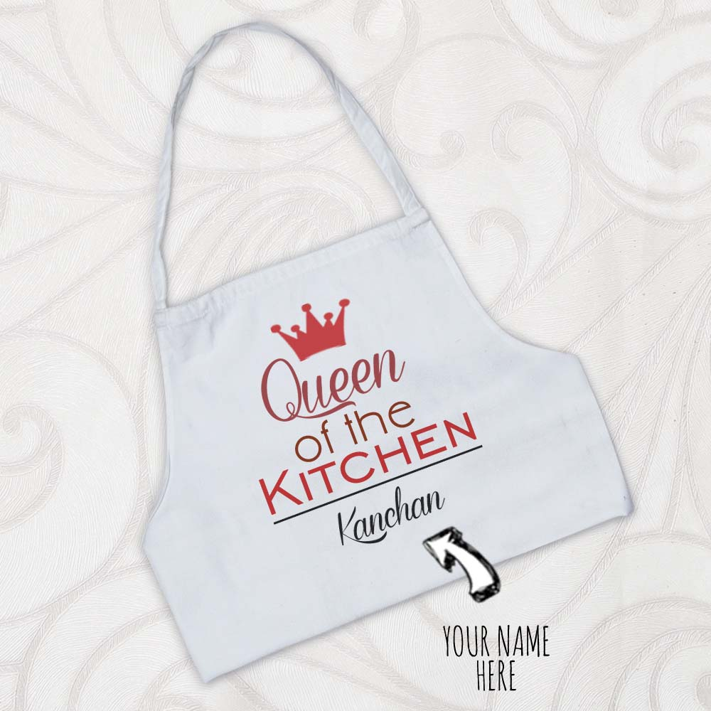 Queen of the Kitchen Personalized Apron for Sister