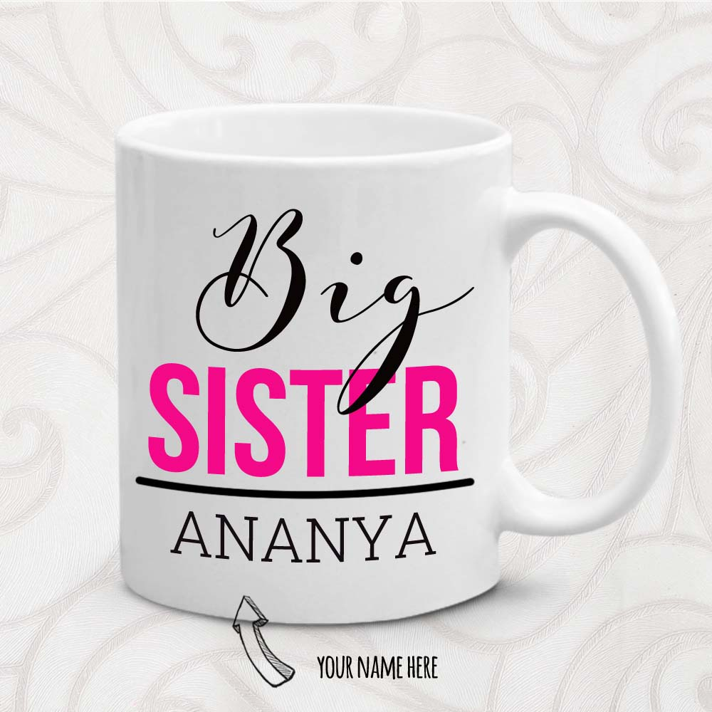 Rakhi Hampers-Big Sister Personalized Mug
