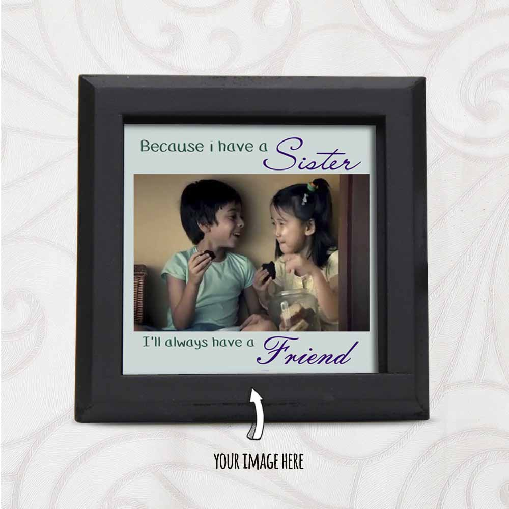 Rakhi Hampers-Image Printed Personalized Table for Sister