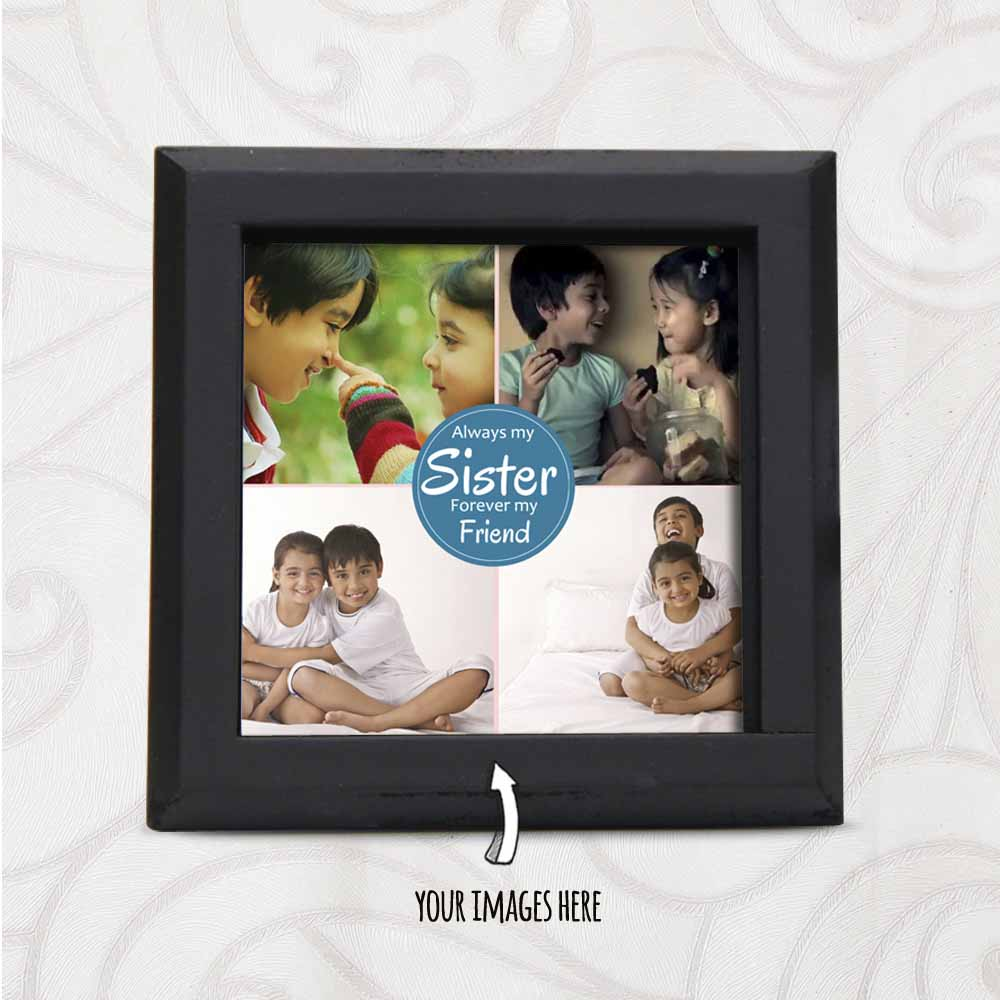 Multiple Images Printed Personalized Table Top for Sister