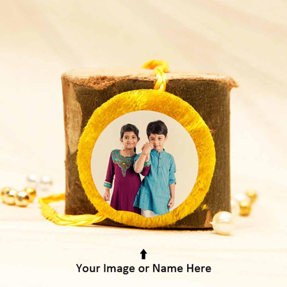 Personalized Yellow Rakhi