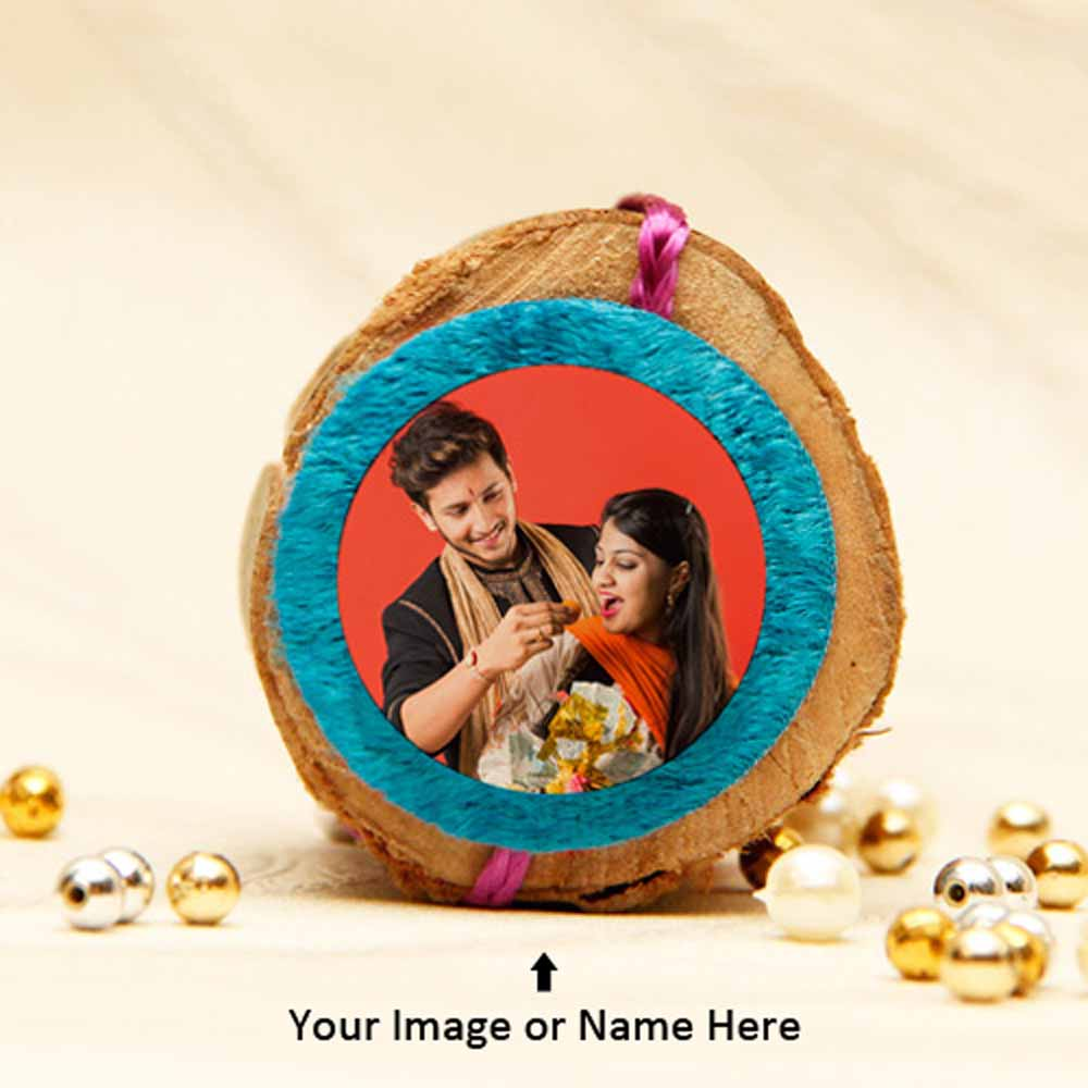 Personalized Pink and Blue Rakhi