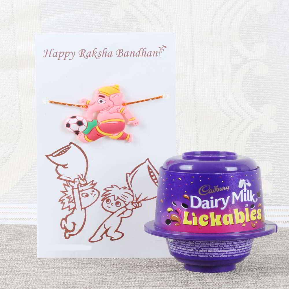 Cadbury Dairy Milk Lickables with Ganesha Rakhi