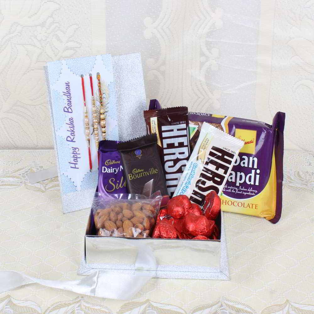 Rakhi Hampers-Rakhi Goodies Gift Box