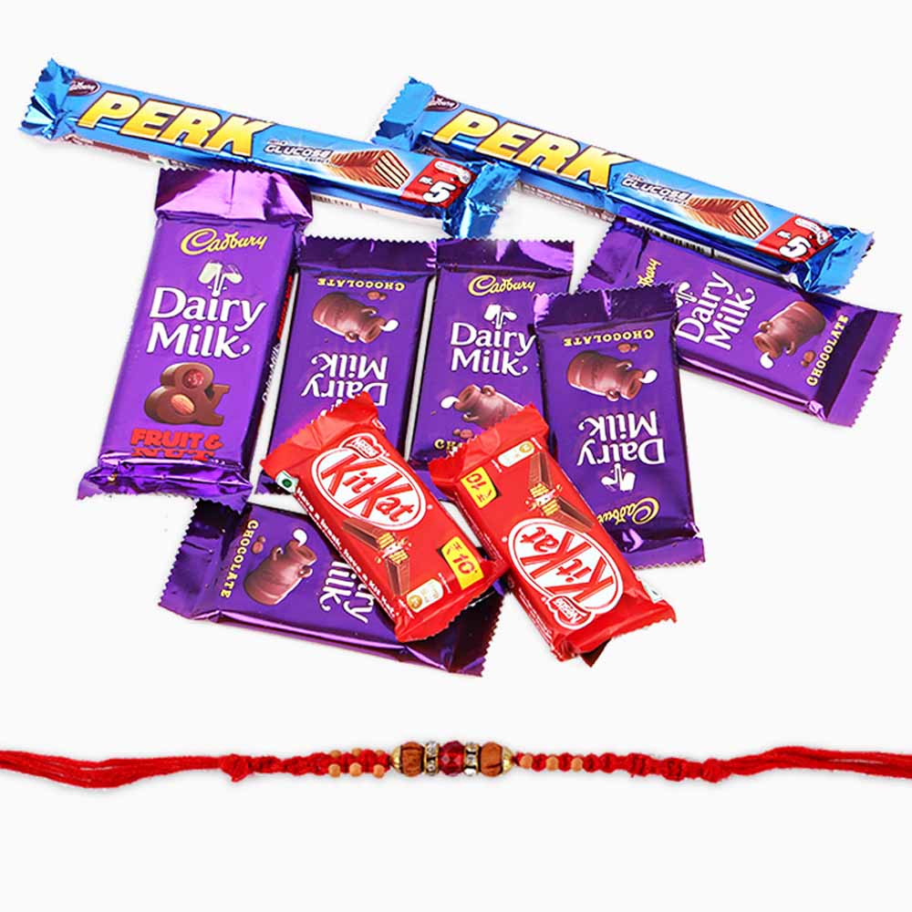 Assorted Cadbury Chocolate Bars with Rakhi