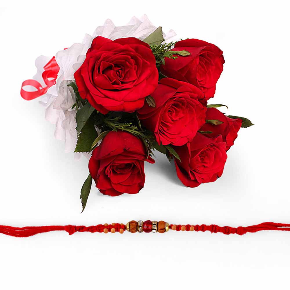 Red Colorful Rakhi Hamper