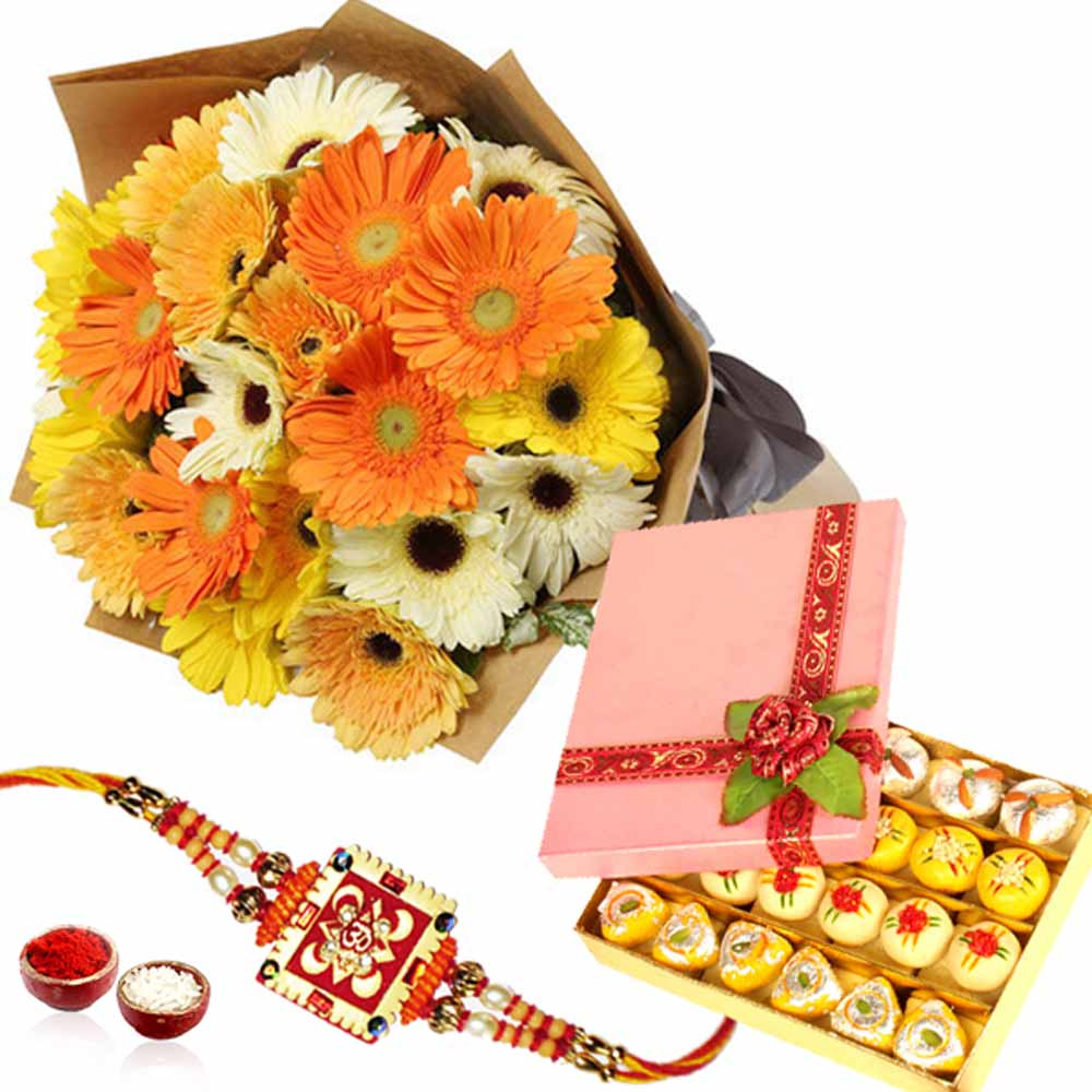 Flowers with Mix Mythoi and Rakhi