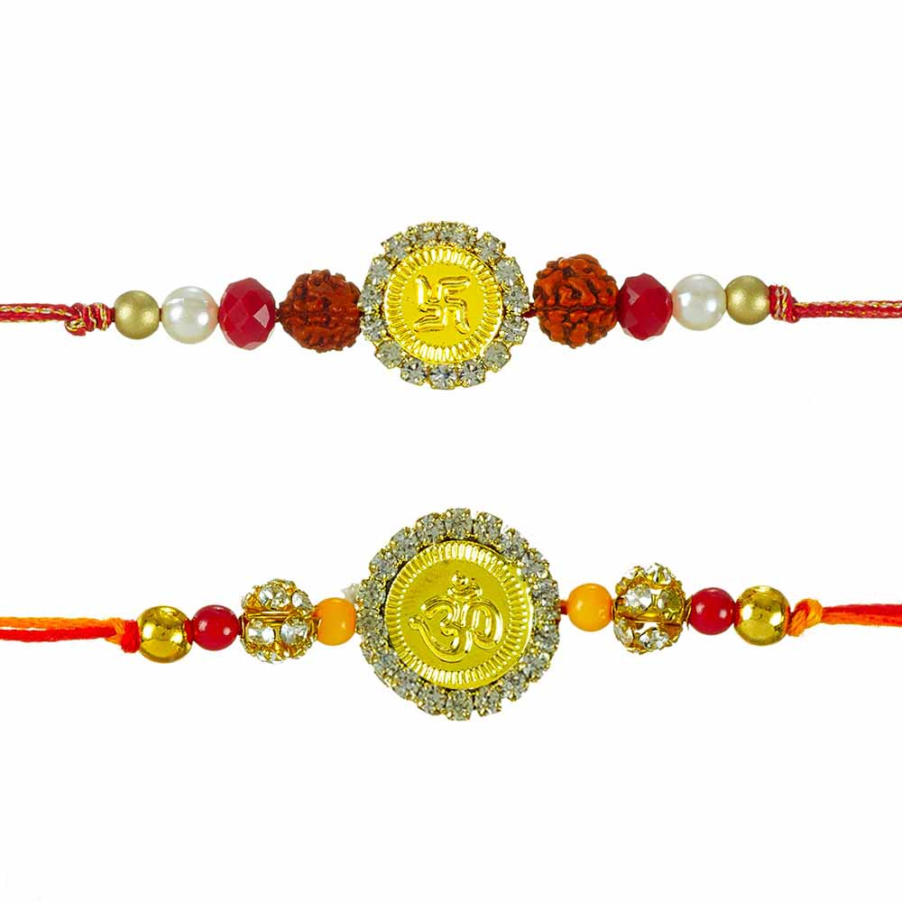 Royal Rakhi Collection-Shubh Rakhi Set of 2