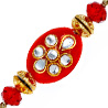 Gift Kundan Rakhi - Set of 2 on Rakhi