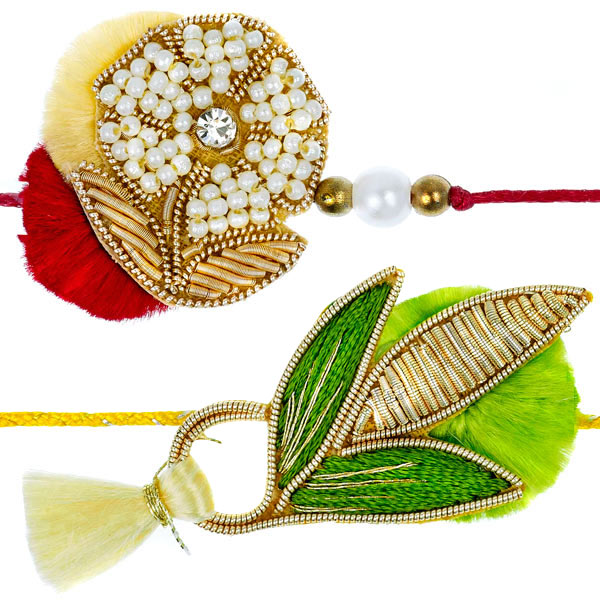 Zardozi Rakhi - Set of 2