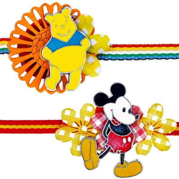 Mickey Mouse & Winnie the Pooh Rakhi