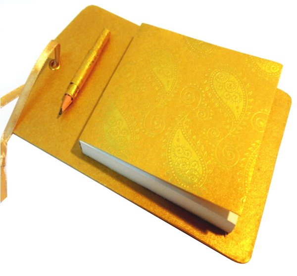 Door Notepad with Matching Ribbon and Pencil