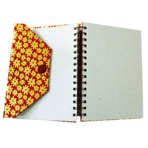 Eco-Friendly Gifts-Eco-friendly Button Wiro Journal