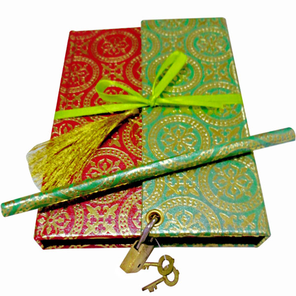 Eco-friendly Notebook with Lock & Key, Ribbon & Tassel