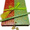 Eco-friendly Notebook with Lock & Key, Ribbon & Tassel