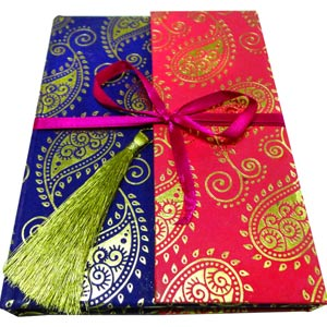 Eco-Friendly Gifts-Eco-friendly Notebook with Ribbon & Tassel