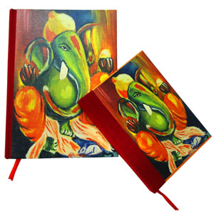 Eco-Friendly Gifts-Eco-friendly Ganesha Journal - Set of 2