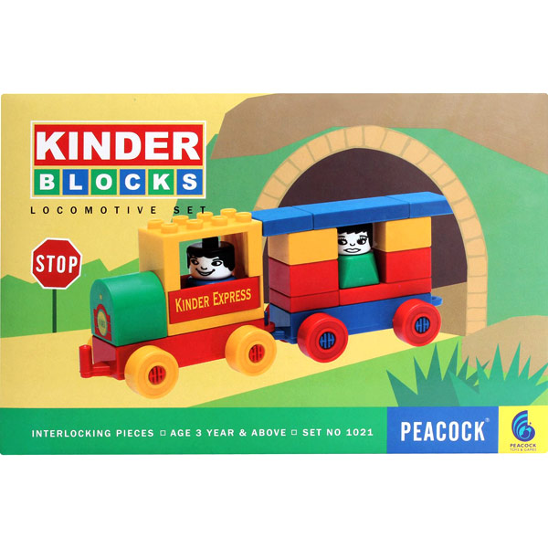Peacock Kinder Blocks ? Locomotive Set