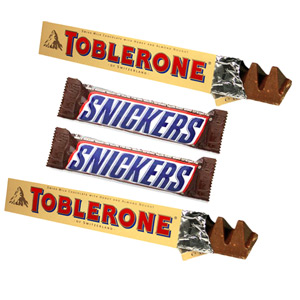 Chocolate Hampers-Toblerone and Snickers with Teddy