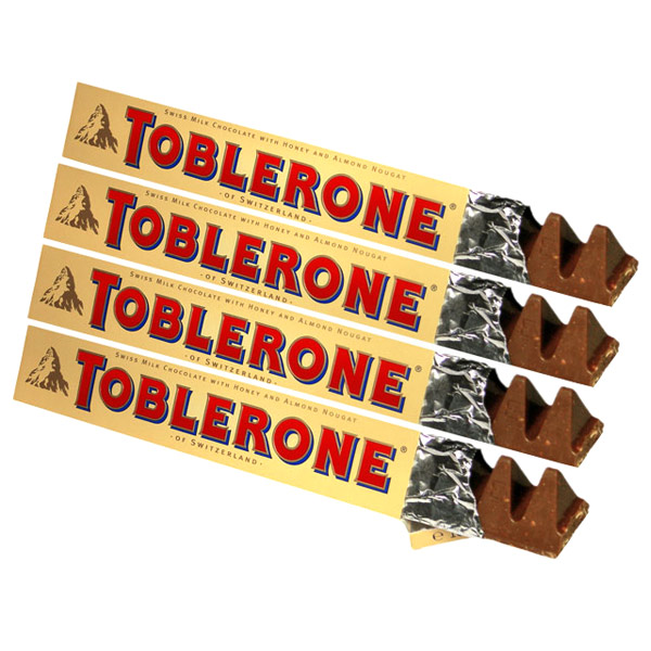 Toblerone Chocolates - 4 Bars