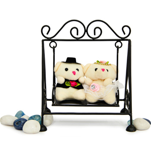 Stuffed Teddy Bear-Couple Swing