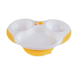 Piyo Piyo Slip Proof Three-Section Dining Plate