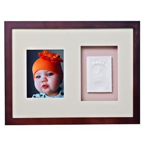 Baby Memory Prints Wall Frame - Mahogany