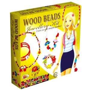 Ekta Wood Beads Jewelry Kit - Junior
