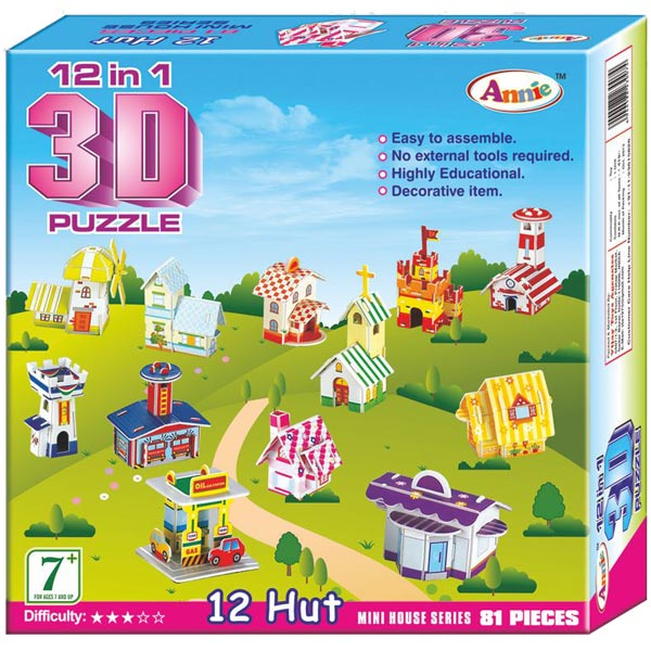 Annie 12 In 1 3D Puzzle