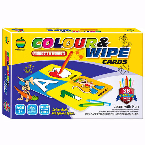 Apple Fun Color & Wipe Alphabets & Numbers Senior