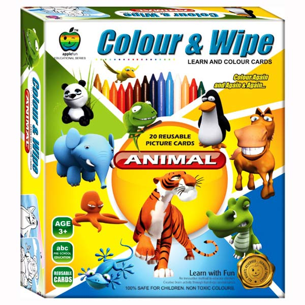 Apple Fun Color & Wipe Animals Junior