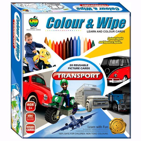 Apple Fun Color & Wipe Transport Junior