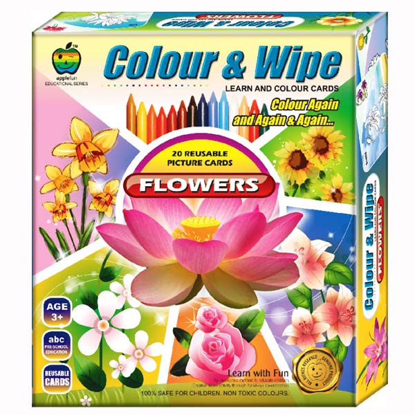 Apple Fun Color & Wipe Flowers Junior