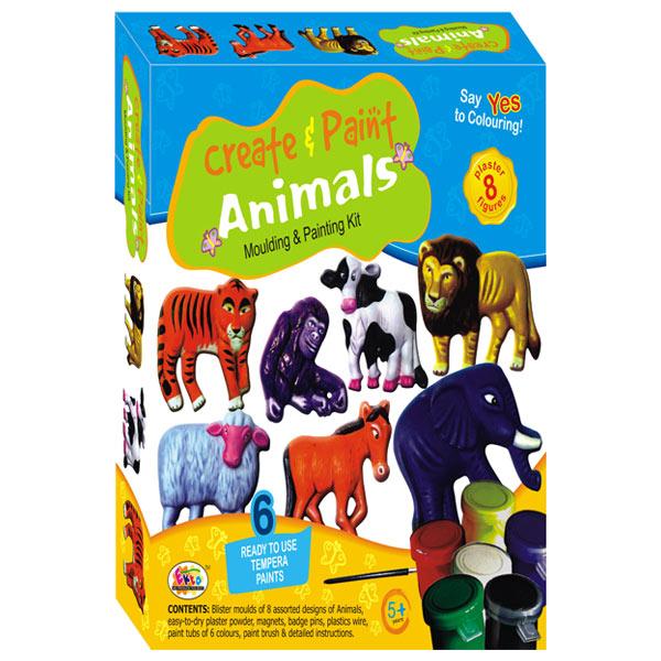 Ekta Create & Paint Animal Kit