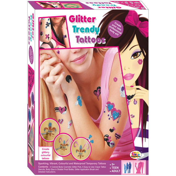 Ekta Glitter Trendy Tattoos