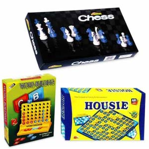 Ekta Chess Senior, Housie & Word Building - Combo of 3 Games