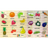 Fruits and Vegetables Wooden Puzzle Combo