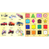 Shapes and Transport Wooden Puzzle Combo