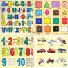 Alphabets, Numbers Shapes and Transport Wooden Puzzle Combo