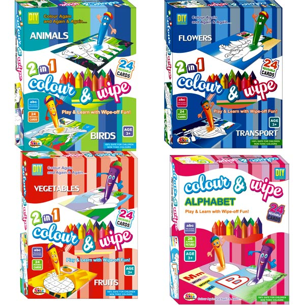 Ekta Color & Wipe PreSchool Play and Learn Combo - 4 Set