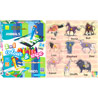 Animals Wooden Puzzle and Ekta Animals and Birds Color & Wipe Combo