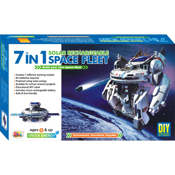 Ekta 7 in 1 Solar Kit Rechargeable Space Fleet DIY Kit