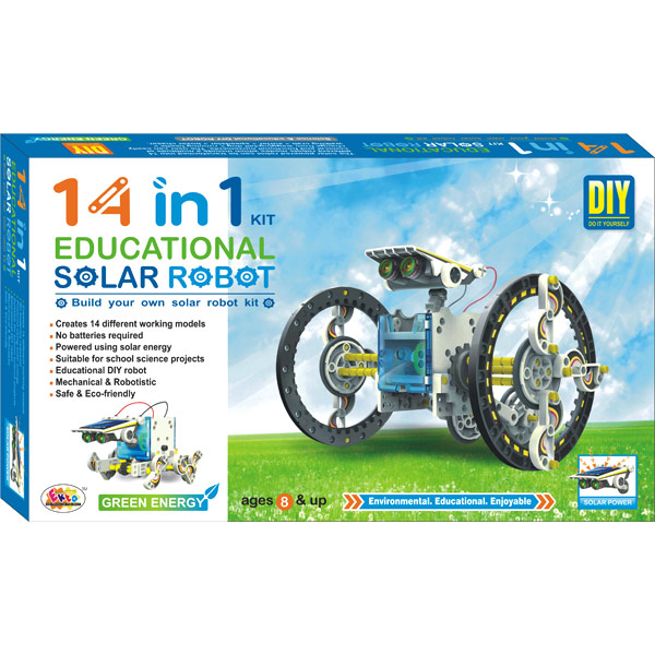 Ekta 14 in 1 Educational Solar Robot DIY Kit